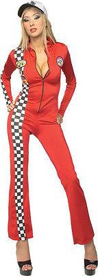 RUBIES RED RACER  COSTUME HALLOWEEN FANCY DRESS HEN NIGHT PARTY