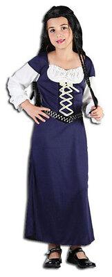 Mädchen Mittelalterlich Maid Marion Kostüm Bauer Kostüm Outfit Neu Alter - Maid Marion Mädchen Kostüm