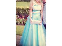 Beautiful blue prom princess dress