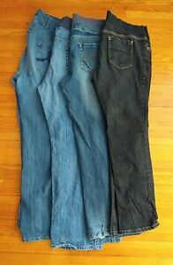 Four pairs, large maternity jeans