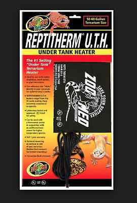 Zoo Med 50-60 gallon Repti Therm Under Tank Heater RH-6 Reptile Heat Pad Mat UTH