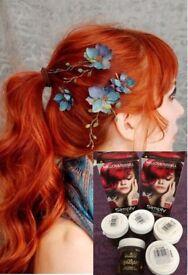 BNIB 7 pcs RED hair dye BUNDLE 5x La Riche DIRECTIONS Flame & 2x Simply Bright RED ALERT