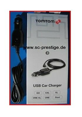 TOMTOM/TOM TOM GO/ONE/XL/XXL MINI USB AUTO/KFZ LADEKABEL CAR CHARGER 12/24VOLT