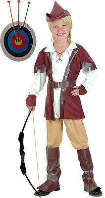Edles Robin Hood Jungen Kostüm XL Gr.146/158 + 60 cm Pfeil- und Bogenset