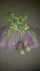 Disney store Tinkerbell costume and shoes