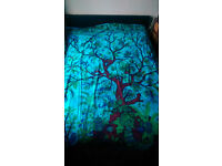 Turquoise Tree of life wall hanging/throw