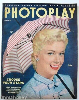 DORIS DAY MARILYN MONROE JOE DIMAGGIO Original 1953 PHOTOPLAY MOVIE MAGAZINE