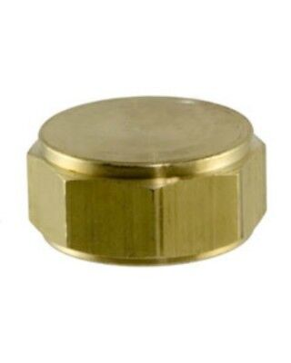 Female Garden Solid Brass Hose End Cap with Washer - ROC Plumbing Industrial