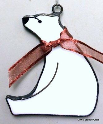 Bear Stained Glass (Stained Glass Polar Bear Sun Catcher)