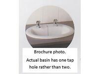 Vitra Eczacibasi inset white washbasin. Unused.