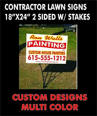 10 18x 24 Custom Printed 2 Sided Corrugated Yard Signs Wstakes