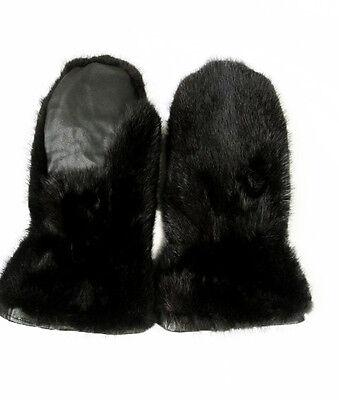 Unisex Men Women MINK Fur Mittens Mitten Gloves SALE