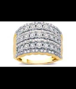 1/2 CTTW Fashion Diamond Band in 14K Gold Plating