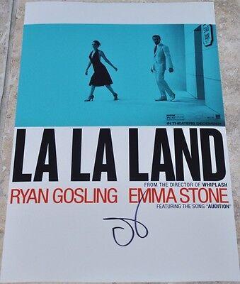 "Emma Stone Signed 12"" x 8"" Colour Photo La La Land Oscar BAFTA"