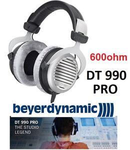 NEW BEYERDYNAMIC DT 990 PRO STUDIO HEADPHONES 600 OHMS