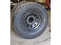 Tough modular 6 stud wheels with tyres 265/70 265/75 16 8 tyres 4 wheels L200 ranger hilux shogun