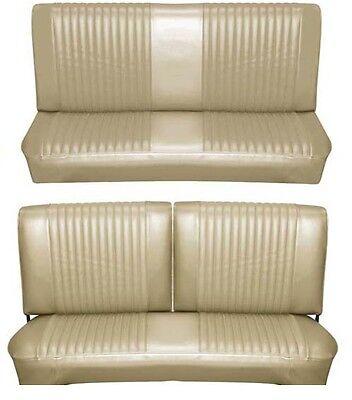 Bench Seat Full Set Upholstery - 65 Falcon Futura Convertible Full Upholstery Set w/ Split Bench Seat, Palomino