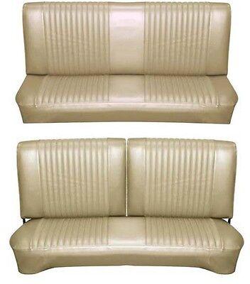 Bench Seat Full Set Upholstery - 65 Falcon Futura Hardtop Full Upholstery Set w/ Split Bench Seat, Palomino