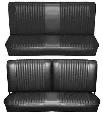 Bench Seat Full Set Upholstery - 65 Falcon Futura Convertible Full Upholstery Set w/ Split Bench Seat, Black