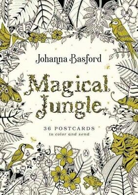 Magical Jungle : 36 Postcards to Color and Send, Stationery by Basford, - Magical Jungle
