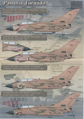Print Scale 1/72 Panavia Tornado GR.1 Gulf War Nose Art on Desert Pink Aircraft  ()