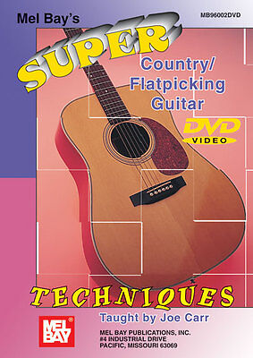 SUPER COUNTRY FLATPICKING GUITAR TECHNIQUES NEW DVD