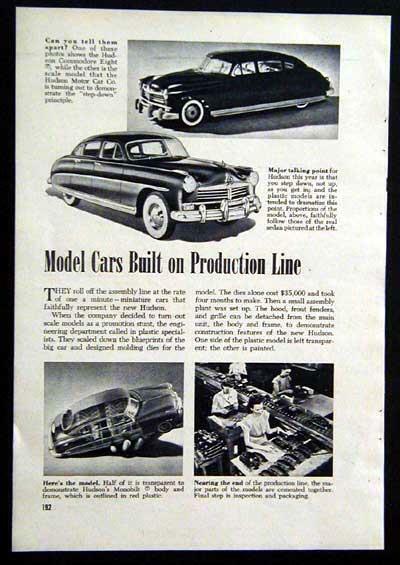 Hudson Dealer promotional Plastic Model pictorial 1949