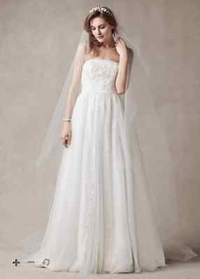 Wedding Dress Size 8 Gown Melissa Sweet for David's Bridal in Ivory