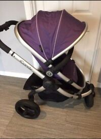 *Icandy peach jogger in loganberry pushchair*