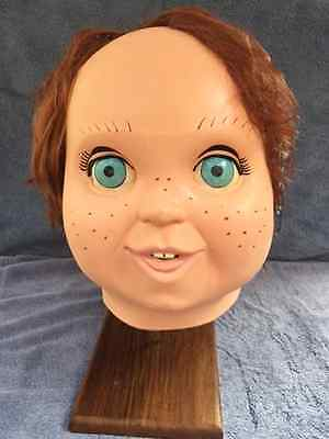 Halloween CHILD'S PLAY 2 - GOOD GUY DOLL CHUCKY WITH HAIR LATEX DELUXE MASK NEW  - Chucky Doll Halloween Mask