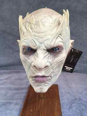Halloween Costume GAME OF THRONES NIGHT'S KING LATEX DELUXE MASK Haunted House  (Halloween Kings Game)
