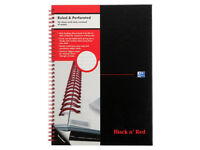 Oxford Black n' Red A4 Poly Cover Wirebound Notebook