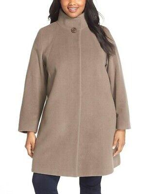 BRAND NEW Cinzia Rocca Due Wool Blend Stand Collar A-Line Coat – 16W