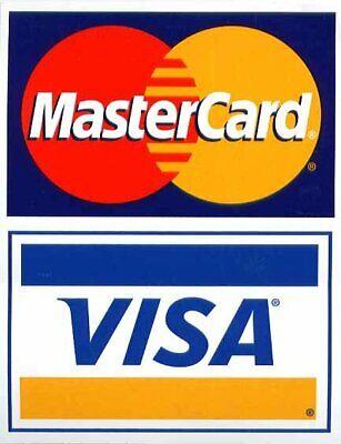 Visa Mastercard Credit Card Logo Decal Sticker Display Signage