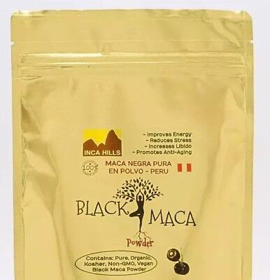 BLACK MACA ORGANIC 5 Oz - 140g POWDER MACA NEGRA *2WEEKSUPPLY✅BEST QUALITY