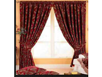 Paoletti fully lined curtains and matching cushions