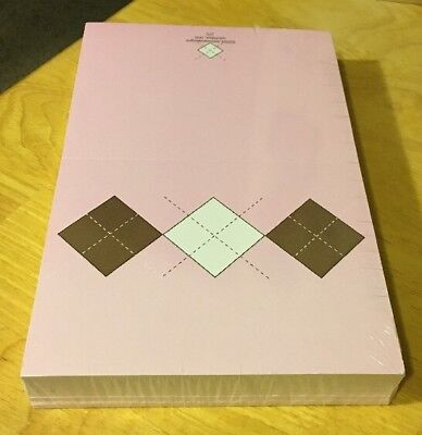 Pink Argyle Note Cards Donovandesigns NIP