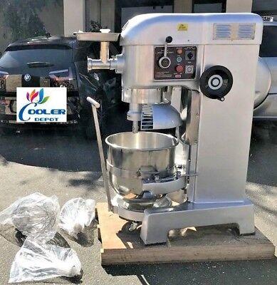 New 60 Quart Mixer Machine 3 Speed Commercial Bakery Kitchen Equipment Nsf Etl