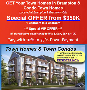 Brampton Homes Buy with 10% to 35% Down Payment !!