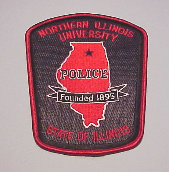 NORTHERN ILLINOIS UNIVERSITY  FOUNDED 1895  POLICE DEPT. PATCH  FREE SHIPPING!!!