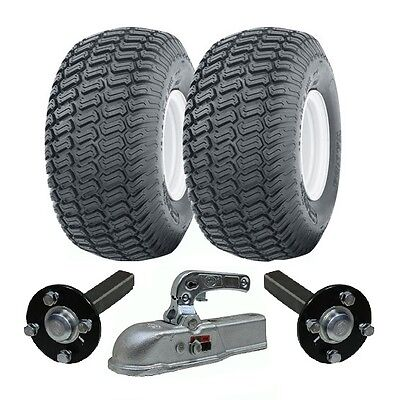 Extra heavy duty ATV trailer quad kit 900kg wheels, hub & stub axles, cast hitch