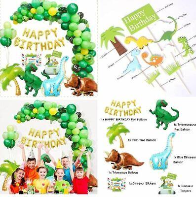 Dinosaur Themed Birthday Party (214 pcs Dinosaur Balloons Garland Kit for Dino Themed Party Kids Birthday)