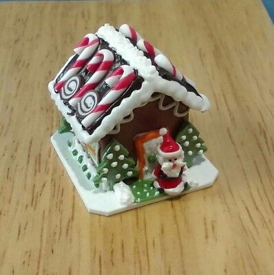 Dollhouse Miniature Santa Candy Gingerbread House Bright deLights Christmas