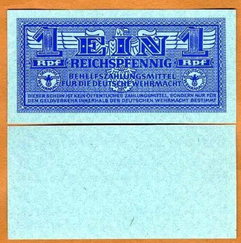 Germany, 1 Reichspfennig (1942) P-M32 WWII UNC > Military Certificate, Wehrmacht