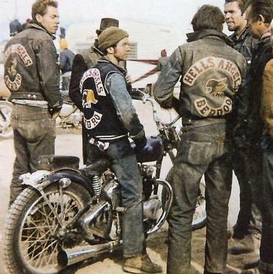 Hells Angels Motorcycle Gang Berdoo Group Meet Old Very Grainey 8.5x11 Photo