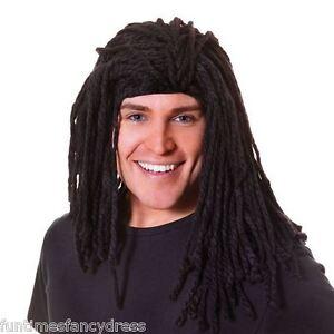 Long Rasta Dreadlock Wig Ruud Gullit Bob Marley Netherlands Jamaica Fancy Dress