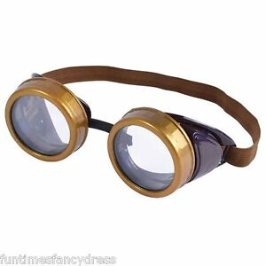 Steam-Punk-Round-Circular-Goggles-Glasses-Retro-Gaga-Mad-Professor-Fancy-Dress