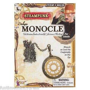 Steam-Punk-Monocle-On-Chain-Victorian-Science-Fiction-Gentlemans-Fancy-Dress