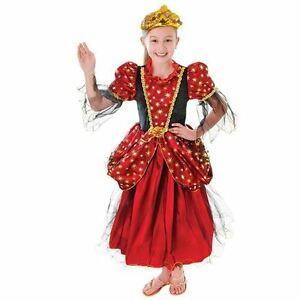 GIRLS-GOLD-STAR-PRINCESS-QUEEN-TUDOR-ELIZABETHAN-RENAISSANCE-FANCY-DRESS-COSTUME