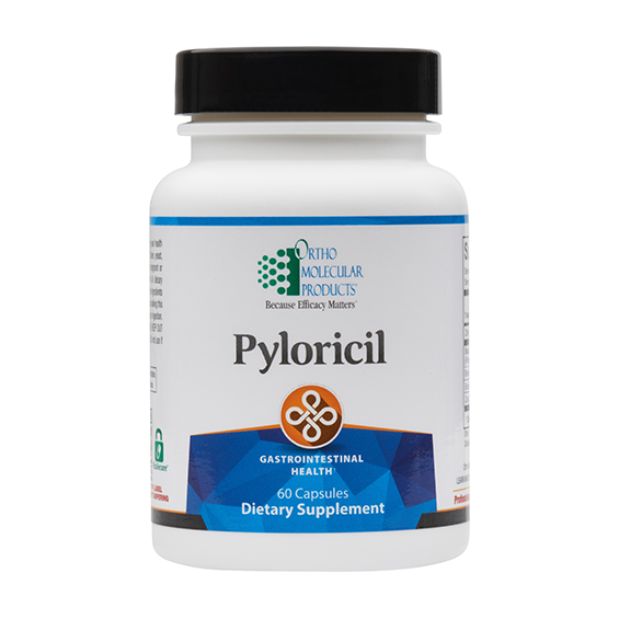 Pyloricil 60 Capsules by Ortho Molecular Products. Fast shipping EXP 06/21